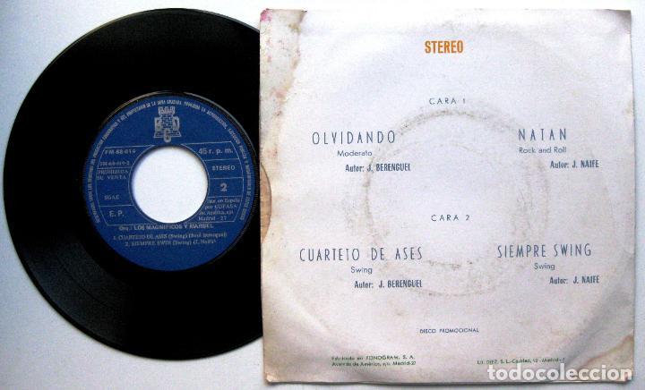 Discos de vinilo: Orquesta Los Magnificos Y Marbel - Siempre Swing + 3 - EP BCD PROMO 1974 BPY - Foto 2 - 66522142