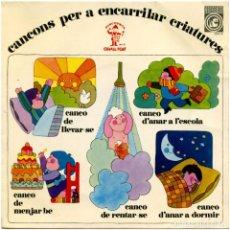 Discos de vinilo: JOSEP Mª ESPINÀS / F. BURRULL - CANÇONS PER ENCARRILAR CRIATURES - EP 196 - CONCENTRIC/CAVALL FORT. Lote 66528886