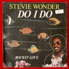 Discos de vinilo: STEVIE WONDER (SINGLE AM 1982) DO I DO / RICKET LOVE. Lote 66784594
