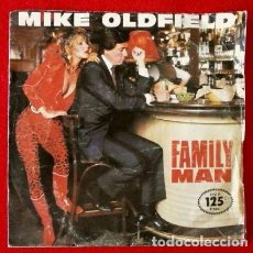 Discos de vinilo: MIKE OLDFIELD (SINGLE VIRGIN 1982) (NUEVO) FAMILY MAN - MOUNT TEIDE. Lote 66784834