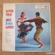 Discos de vinilo: XAVIER CUGAT Y SU ORQUESTA LP DOCE RITMOS LATINOS THAT LATIN BEAT RCA 1962 PEREZ PRADO TITO PUENTE. Lote 66787630