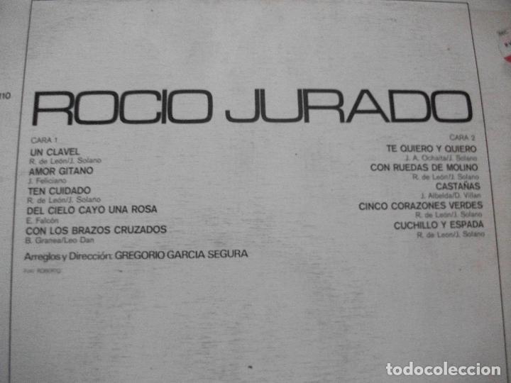 Discos de vinilo: ROCIO JURADO LP COLUMBIA CPS 9110 1971 PEPETO - Foto 2 - 66790394