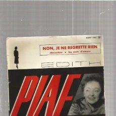 Disques de vinyle: EDITH PIAF NON JE NE. Lote 240207940