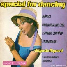 Discos de vinilo: AUGUSTO ALGUERO JR., EP, MONICA + 3, AÑO 1961. Lote 66814326