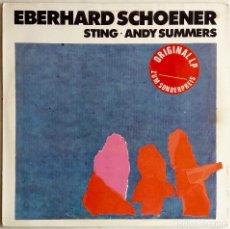 Discos de vinilo: EBERHARD SCHOENER,MUSIC FROM VIDEO MAGIC Y FLASHBACK CON STING Y A SUMMERS (THE POLICE). LP ALEMANIA. Lote 66841494