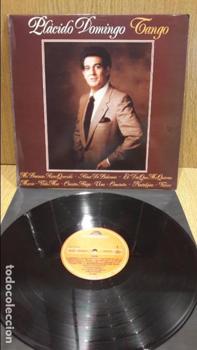 PLÁCIDO DOMINGO. TANGO. LP / POLYDOR - 1981 / CALIDAD LUJO. ****/**** (Música - Discos - LP Vinilo - Solistas Españoles de los 70 a la actualidad)