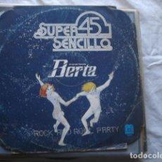Discos de vinilo: UN GRUPO LLAMADO BERTA ROCK AND ROLL PARTY . Lote 66858046