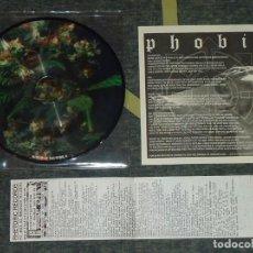 Discos de vinilo: PHOBIA / CORRUPTED - SPLIT - PICTURE 7'' [RHETORIC RECORDS, 1999]. Lote 66863746