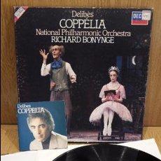 Discos de vinilo: LEO DELIBES. COPPÉLIA / RICHARD BONYNGE. CAJA-ÁLBUM - 2 LP / DECCA + LIBRETO / LUJO. ****/****. Lote 66866570