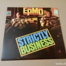 Discos de vinilo: EPMD - STRICTLY BUSINESS (LP REEDICIÓN) NUEVO. Lote 66871458