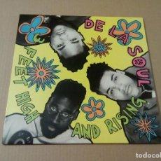 Discos de vinilo: DE LA SOUL - FEET HIGH AN RISING (LP REEDICIÓN) NUEVO. Lote 208138093