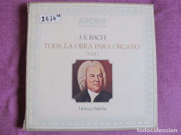 LP-BACH - TODA LA OBRA PARA ORGANO VOL. 1 (CAJA CON 7 LP'S Y LIBRETO, SPAIN, ARCHIV PRODUKTION 1970) (Música - Discos - LP Vinilo - Clásica, Ópera, Zarzuela y Marchas)