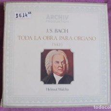 Discos de vinilo: LP-BACH - TODA LA OBRA PARA ORGANO VOL. 1 (CAJA CON 7 LP'S Y LIBRETO, SPAIN, ARCHIV PRODUKTION 1970). Lote 109075506