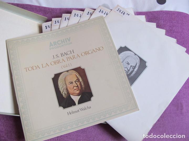 Discos de vinilo: lp-bach - toda la obra para organo vol. 1 (caja con 7 lp's y libreto, spain, archiv produktion 1970) - Foto 2 - 109075506