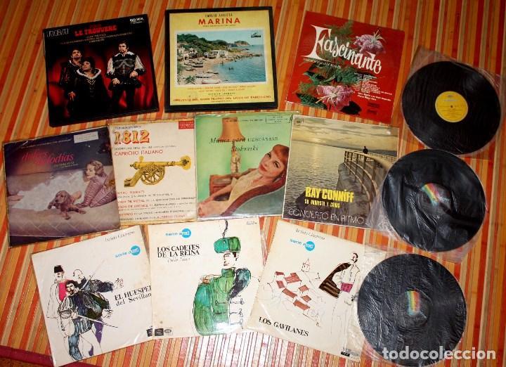 LOTE DISCOS VINILO. VARIADO. VER DESCRIPCIÓN (Música - Discos - LP Vinilo - Clásica, Ópera, Zarzuela y Marchas)