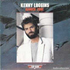 Disques de vinyle: KENNY LOGGINS,DANGER ZONE DE B.S.O. TOP GUN PROMO DE 1 SOLA CARA DEL 86. Lote 66976442