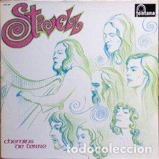 Discos de vinilo: [LOTE DE CONJUNTO:] 2 LP DE ALAN STIVELL: CHEMINS DE TERRE (1972) + RAOK DILESTRA (1977). Lote 66983814