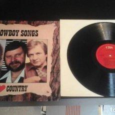 Discos de vinilo: I LOVE COUNTRY - COWBOY SONGS LP CBS ?– CBS 451009 1 - MERLE HAGGARD MOE BANDY JOHNNY CASH. Lote 67017366