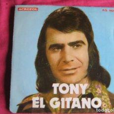 Discos de vinil: TONY EL GITANO SG ACROPOL 1977 NO OLVIDES EL PASADO/ QUIERO SALIR DE ESTA PRISION RUMBAS RUMBA. Lote 188692773
