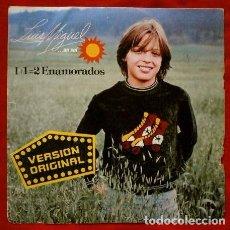 Discos de vinilo: LUIS MIGUEL (SINGLE 1982) 1 + 1 = 2 ENAMORADOS (UNO MAS UNO, DOS) -LO QUE ME GUSTA. Lote 67049282