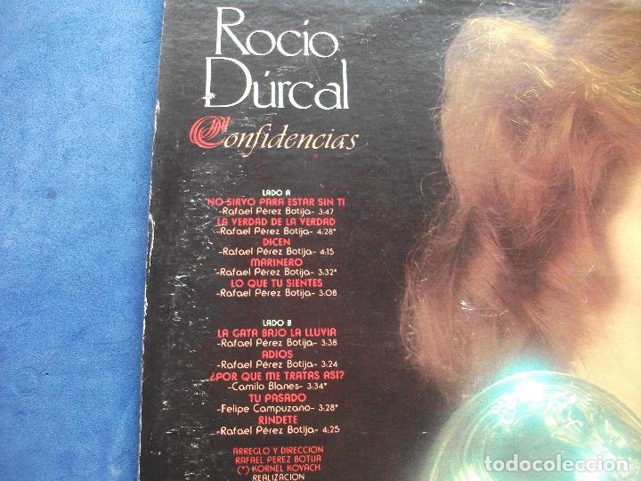 Discos de vinilo: ROCIO CONFIDENCIAS LP PRONTO 1981 MEXICO -NEW YORK CARTON USA PEPETO - Foto 2 - 67056130