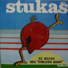 Discos de vinilo: STUKAS. EL BLUES DEL POLLITO ROJO / LA ALEGRÍA DE VER A UN AMIGO.SOCIEDAD FONOGRÁFICA ASTURIANA MAXI. Lote 67088601