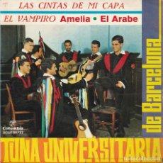 Discos de vinilo: TUNAS - TUNA UNIVERSITARIA DE BARCELONA / LAS CINTAS DE MI CAPA + 3 (EP 1964) TRIANGULO. Lote 67089593