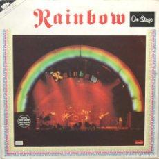 Discos de vinilo: RAINBOW ON STAGE LP DOBLE (2 DISCOS) POLYDOR OISTER 1977. Lote 96160920