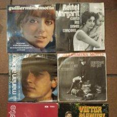 Discos de vinilo: LOTE DE 6 SINGLES GUILLERMINA MOTTA, REMEI MARGARIT, MARIANO ALBERO, XABIER LETE, VICTOR MANUEL. Lote 67094773