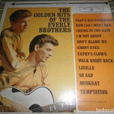 Discos de vinilo: THE EVERLY BROTHERS - THE GOLDEN HITS LP - ORIGINAL U.S.A. - WARNER BROS. RECORDS 1962 -. Lote 67161405