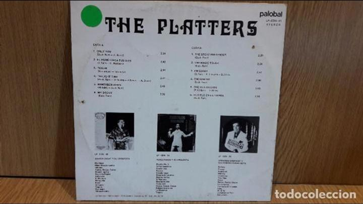 Discos de vinilo: THE PLATTERS. MISMO TÍTULO. LP / PALOBAL - 1981 / MBC. ***/*** - Foto 2 - 67171853