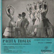 Discos de vinilo: PACITA TOMAS / ARENAL DE SEVILLA + 4 (EP 1959) TRIANGULO. Lote 67175749