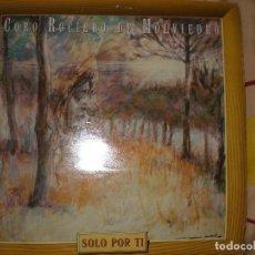 Discos de vinilo: CORO ROCIERO DE MOLVIEDRO , CONTIENE POSTAL Y RECORTABLE. Lote 67188765