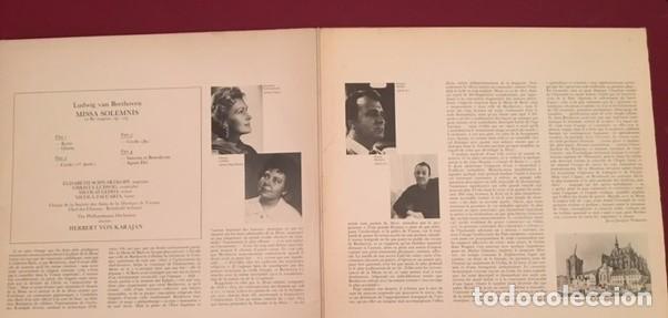 Discos de vinilo: BEETHOVEN - MISSA SOLEMNIS - KARAJAN - ELISABETH SCHWARZKOPF - DOBLE LP - Foto 2 - 67189561