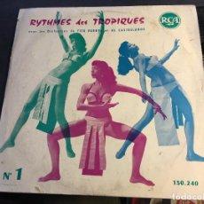 Discos de vinilo: TITO PUENTE ET AL CASTELLANOS ( RYTHMES DES TROPIQUES ) LP 10 INCH FRANCE (VINJ). Lote 67191477