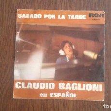 Discos de vinilo: SINGLE CLAUDIO BAGLIONI, RCA SPBO-9258 AÑO 1975. Lote 67193373
