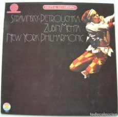 Discos de vinilo: STRAWINSKY: PETROUCHKA, ZUBIN MEHTA. CBS MASTERWORKS 1980 SIN ESCUCHAR. Lote 67223629