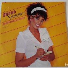 Discos de vinilo: DONNA SUMMER - SHE WORKS HARD FOR THE MONEY - LP - 1983. Lote 67233573