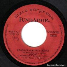 Discos de vinilo: FUNDADOR 10.085 - QUIQUE ROCA Y SU CONJUNTO– RITMOS DE NUESTROS TIEMPOS - EP 1962. Lote 67278265