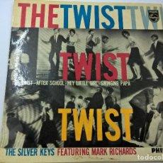 Discos de vinilo: THE SILVER KEYS-THE TWIST + 3 -EP-N. Lote 67315897