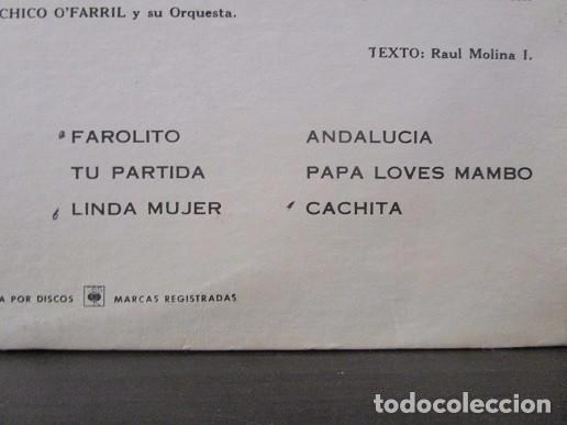 Discos de vinilo: Chico O´farril O Farril Y SU ORQUESTA CBS 7075 Vinilo Lp T61 VG-/VG - Foto 4 - 67320017