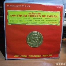 Discos de vinilo: EXITOS CURUMBELES DE ESPAÑA 30 SELECCIONES EN 3 LPS JM 118 HECHO EN MEXICO SIN USO¡¡. Lote 67358977