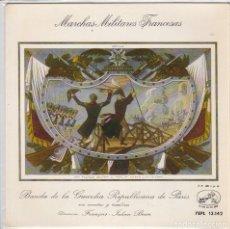 Discos de vinilo: MARCHAS MILITARES FRANCESAS ( BANDA DE LA GUARDIA REPUBLICANA DE PARIS) EP 1958. Lote 67384385