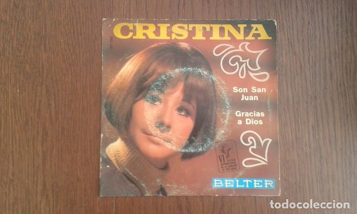 SINGLE CRISTINA, BELTER 07.586 AÑO 1969 (Música - Discos de Vinilo - Maxi Singles - Grupos Españoles 50 y 60)