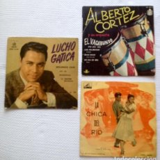 Discos de vinilo: [LOTE DE CONJUNTO:] 3 EP: LUCHO GATICA + ALBERTO CORTEZ + CRISTINA JORIO. Lote 67429637