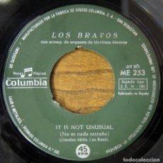 Dischi in vinile: SOLO DISCO - LOS BRAVOS - IT IS NOT UNUSUAL / NO SE MI NOMBRE - 1966 - (EL GRAN MUSICAL). Lote 67432729