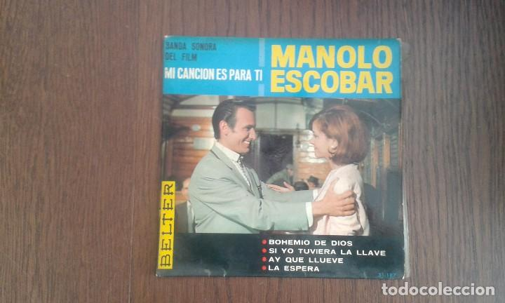 SINGLE MANOLO ESCOBAR, BELTER 51.187 AÑO 1965 (Música - Discos de Vinilo - Maxi Singles - Grupos Españoles 50 y 60)