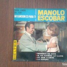 Discos de vinilo: SINGLE MANOLO ESCOBAR, BELTER 51.187 AÑO 1965. Lote 67439621