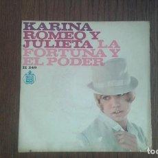 Discos de vinilo: SINGLE KARINA, HISPAVOX H 249 AÑO 1967. Lote 67440105