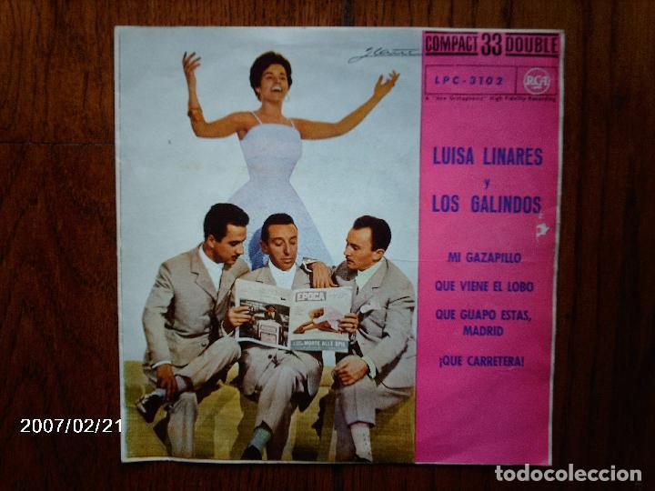 LUISA LINARES Y LOS GALINDOS - MI GAZAPILLO + 3 (Música - Discos de Vinilo - EPs - Grupos Españoles 50 y 60)